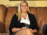 Blonde On Casting Couch Fucked Silly And Swallows