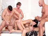 Four Guys Gangbang Brunette Billie Starr After Massage